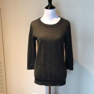 J. Crew Tippi sweater in dark grey. 100% wool